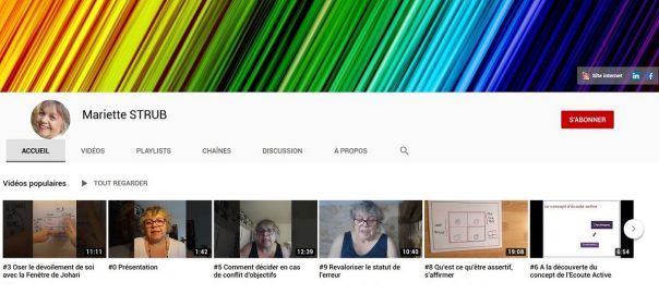 Mariette Strub sur YouTube